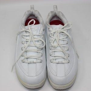 Skechers Work Shape Ups White Leather Shoes